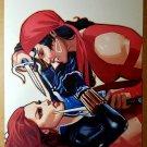 Avengers Black Widow vs Elektra Marvel Comics Poster by Daniel Acuna