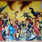 Women of Marvel X-Men Avengers Babes Ms Marvel Marvel Comics Poster Alan Davis