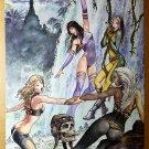 X-Women X-Men Babes Rogue Storm Psylocke Marvel Comics Poster by Milo Manara