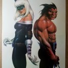 Black Cat Wolverine Claws 1 Marvel Comic Poster by Joseph Michael Linsner