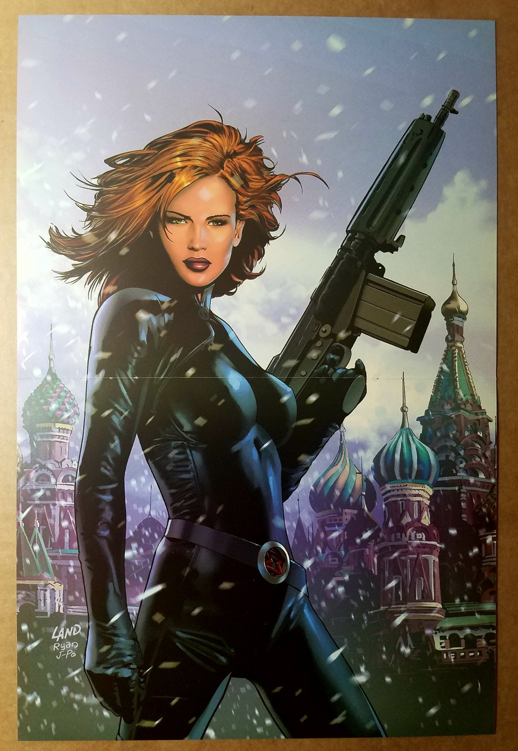 Black Widow Avengers Marvel Comics Poster by Greg Land