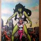 She-Hulk Jennifer Walters Marvel Comics Poster by John Buscema