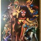 Spider-Woman Women of Marvel Avengers X-Men Marvel Comics Poster by Greg Land