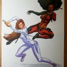 Heroes for Hire Misty Knight Collen Wing Marvel Comics Poster by Jimmy Palmiotti