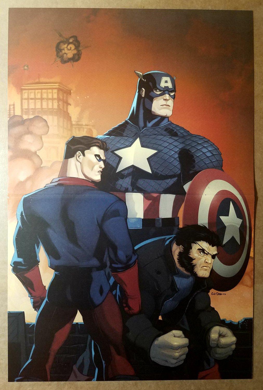 Captain America Bucky Wolverine Origins Marvel Comics Poster by Ed McGuinness