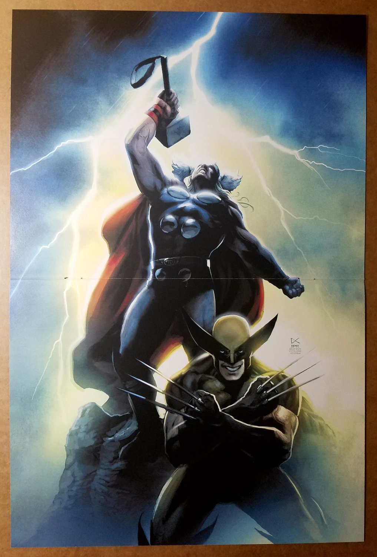 Thor X-Men Wolverine Marvel Comics Poster by Dennis Calero
