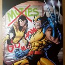 Wolverine Kitty Pryde X-Men Marvel Comics Poster by Salvador Espin
