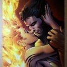Wolverine kissing kiss Phoenix Jean Grey Marvel Comics Poster by Greg Land