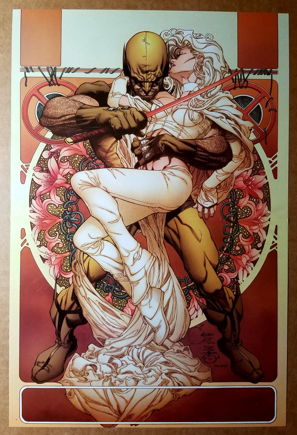 Wolverine Emma Frost Marvel Comics Poster by Joe Quesada