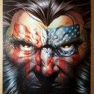 X-Men Wolverine American Flag Face Marvel Comics Poster by Joe Quesada