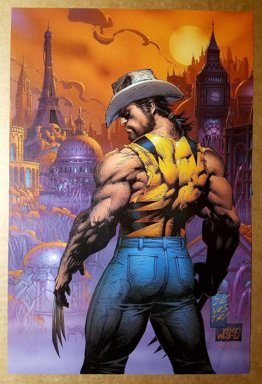 Wolverine Cowboy Hat Marvel Comics Poster by Marc Silvestri