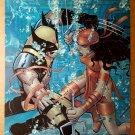 Wolverine Vs Elektra under water Marvel Comics Poster by John Romita Jr