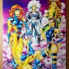 X-Men Woman Jean Grey Rogue Jubilee Marvel Comics Poster by Art Thibert