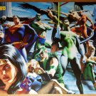 JLA Justice League Superman Batman Wonder Woman DC Comics Poster by Alex Ross