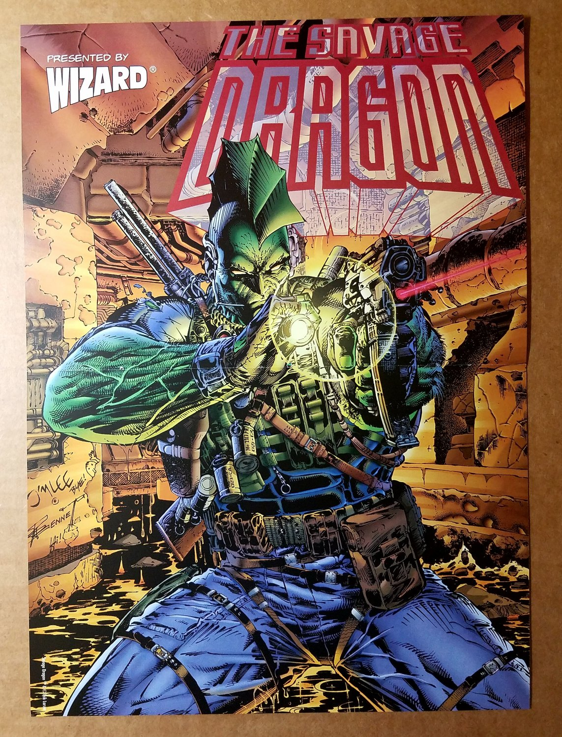 Savage Dragon Image Comic Poster by Jim Lee