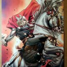 Thor of Avengers on Horse Marvel Comics Poster by Olivier Coipel