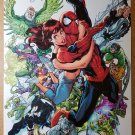 Spider-Man with Mary Jane and Villians Marvel Comics Poster by J Scott Campbell