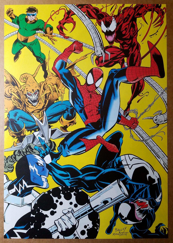 Spider-Man Carnage Venom Dr Octopus Hobgoblin Marvel Comics Poster by Mark Bagley