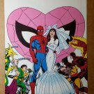 Spider-Man Mary Jane Wedding Marvel Comics Mini Poster by John Romita