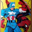 Captain America Spider-Man Marvel Comics Poster by Todd McFarlane