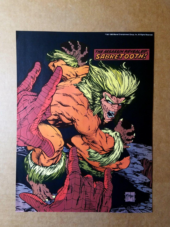 Spider-Man Vs Sabretooth Marvel Comics Mini Poster by Todd McFarlane