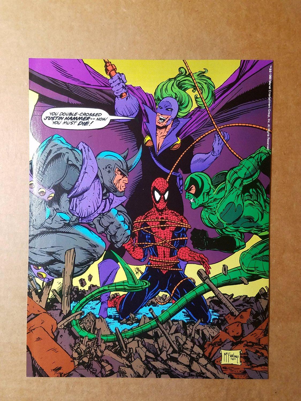 Spider-Man Vs Villians Justin Hammer Marvel Comics Mini Poster by Todd McFarlane
