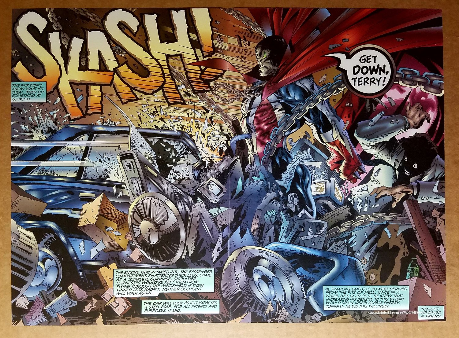 Spawn Stopping Car Image Comics Poster by Greg Capullo