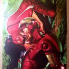 Spider-Woman Kissing Iron Man Marvel Comic Poster by Gabriele Dell'Otto