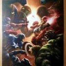 New Avengers Vs Skrull Marvel Comics Poster by Aleksi Briclot