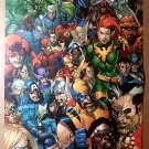 Avengers X-Men Dr Strange Ms Marvel Comic Poster by Francis Leinil Yu