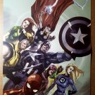 X-Men Avengers Fantastic Four Marvel Poster by Francis Leinil Yu
