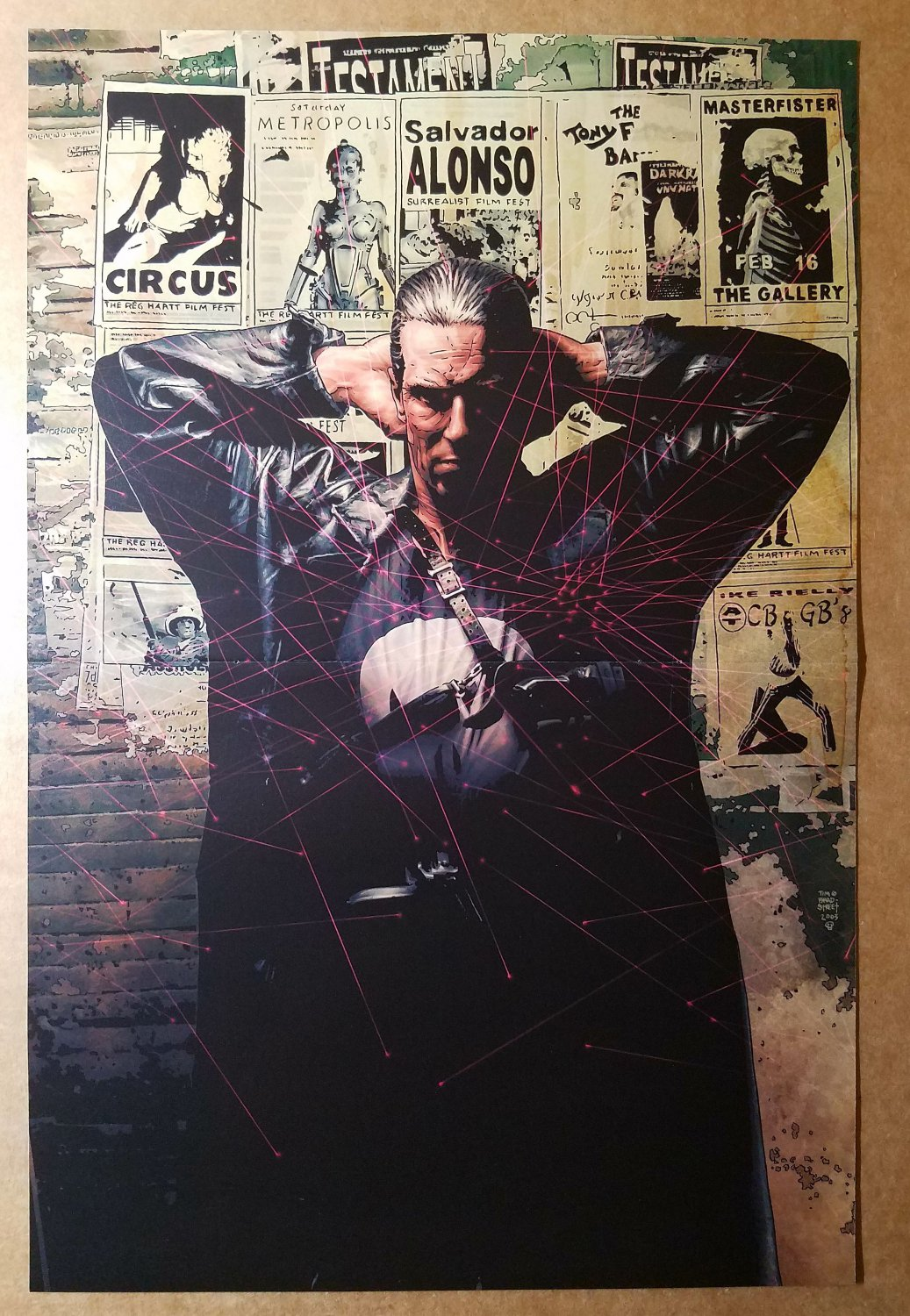 Punisher MAX 1 In the Beginning Marvel Comic Poster by Tim Bradstreet