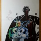 The Punisher Target Practice Headshot Marvel Comics Poster by Mike Zeck