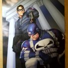 The Punisher War Journal Bucky Captain America Marvel Comics Poster by Ariel Olivetti