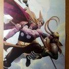 Thor vs Loki Avengers Marvel Comics Poster by Esad Ribic