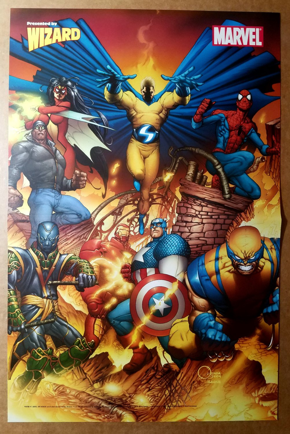 New Avengers Marvel Comics Poster by Joe Quesada