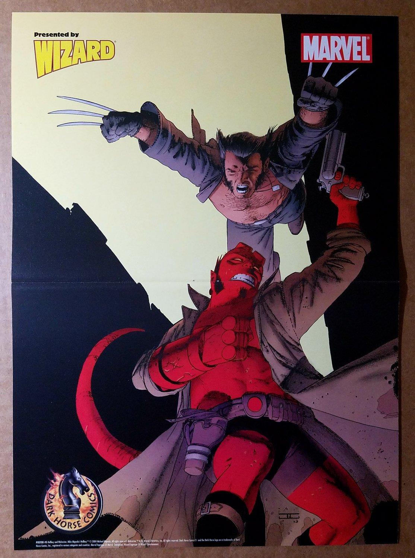Wolverine Hellboy Marvel Dark Horse Poster by John Cassaday