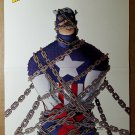 Captain America in chains Marvel Comics Poster by John Cassaday