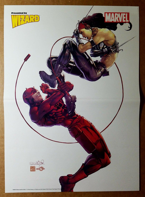 Daredevil Vs Elektra Marvel Comics Poster by Salvador Larroca