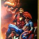 Iron Man Death of Capt Marvel Comics Poster by J G Jones