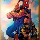 Ultimate Spider-Man Wolverine Thing Marvel Comics Poster by David Finch