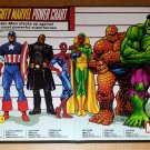 The Mighty Marvel Power Chart Hulk Spider-Man Marvel Poster by Kevin Maguire