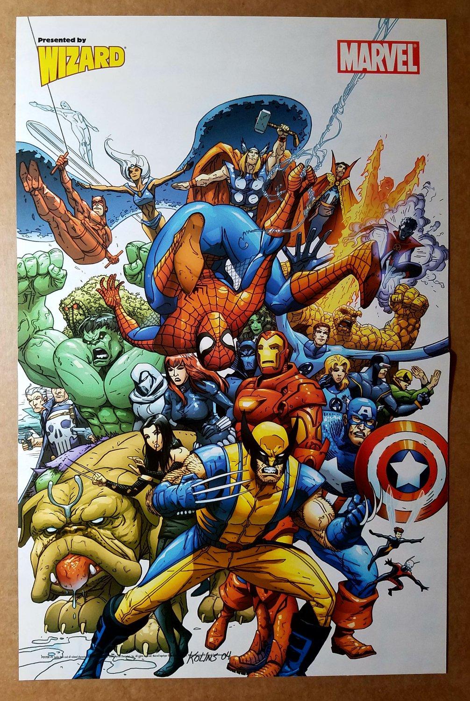 Marvel Team-Up Heroes Good Guys Poster by Scott Kolins