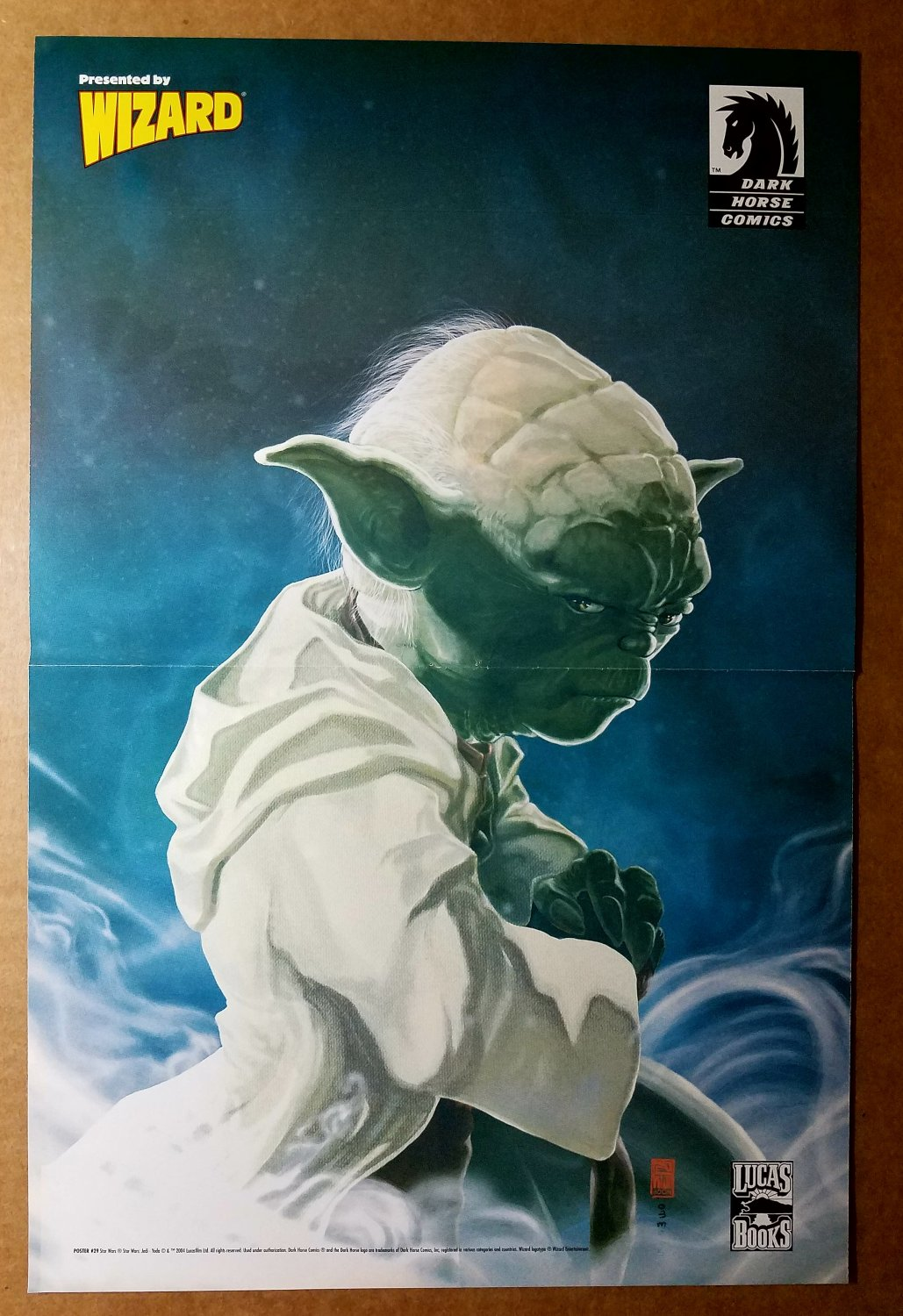 Star Wars Yoda Dark Horse Comics Poster by Hoon