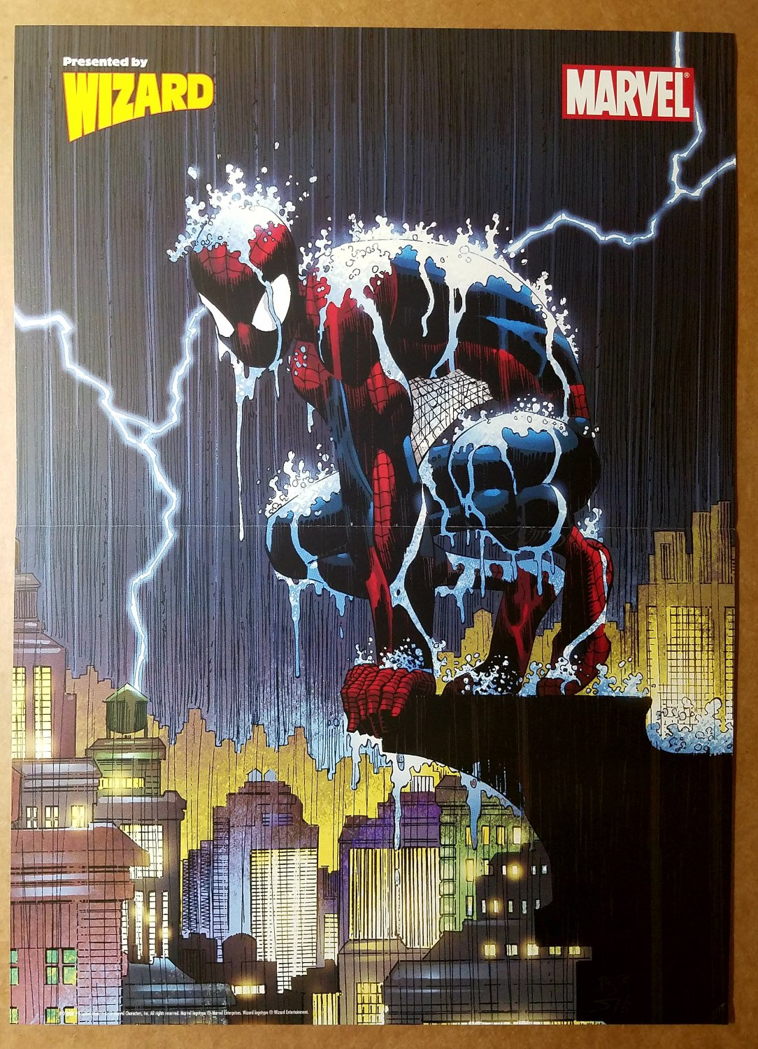 Spider-Man Rain Marvel Comics Poster by John Romita Jr
