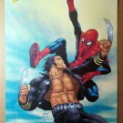 Wolverine Vs Spider-Man Marvel Comics Poster by Frank Quitely