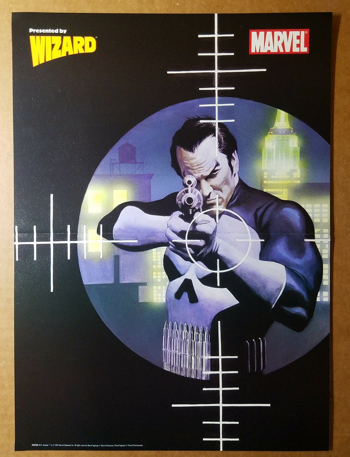 The Punisher Bullseye Marvel Comics Poster by Alex Ross