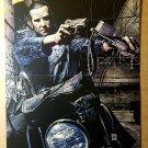 The Punisher Motorcycle Handgun Pistol Marvel Comic Poster by Tim Bradstreet