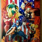 Avengers Vision Captain America Thor Marvel Comics Poster by Ariel Olivetti