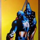 Captain America American Flag Marvel Comics Poster by Dan Jurgens